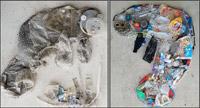 Eduardo Jimenez recycled manatee art