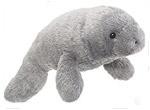 Plush manatee toy