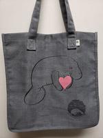 manatee heart tote bag